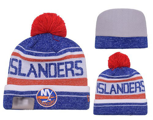 NHL New York Islanders Stitched Knit Beanies 002