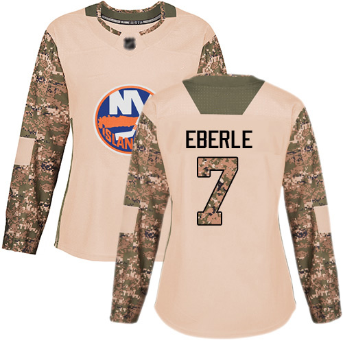 Adidas Women's Jordan Eberle Authentic Camo Jersey: NHL #7 New York Islanders Veterans Day Practice