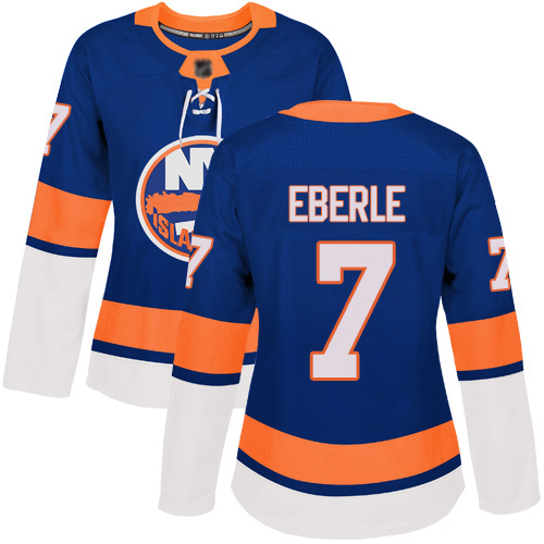 Adidas Women's Jordan Eberle Authentic Royal Blue Home Jersey: NHL #7 New York Islanders