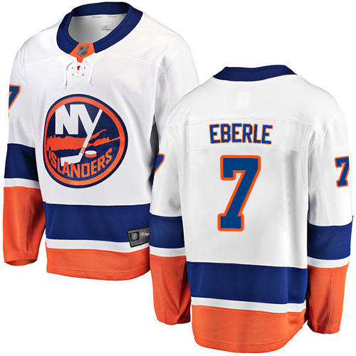 Fanatics Branded Men's Jordan Eberle Breakaway White Away Jersey: NHL #7 New York Islanders