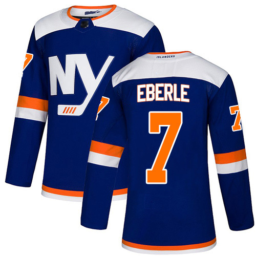 Adidas Youth Jordan Eberle Authentic Blue Alternate Jersey: NHL #7 New York Islanders