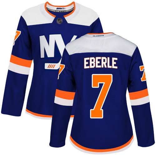 Adidas Women's Jordan Eberle Premier Blue Alternate Jersey: NHL #7 New York Islanders