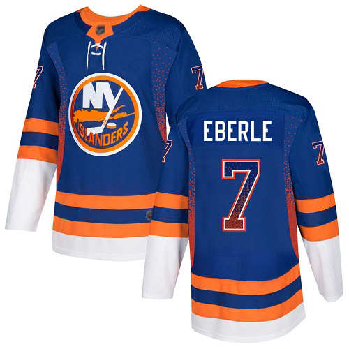 Adidas Men's Jordan Eberle Authentic Royal Blue Jersey: NHL #7 New York Islanders Drift Fashion