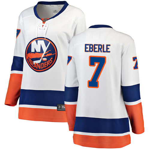 Fanatics Branded Women's Jordan Eberle Breakaway White Away Jersey: NHL #7 New York Islanders