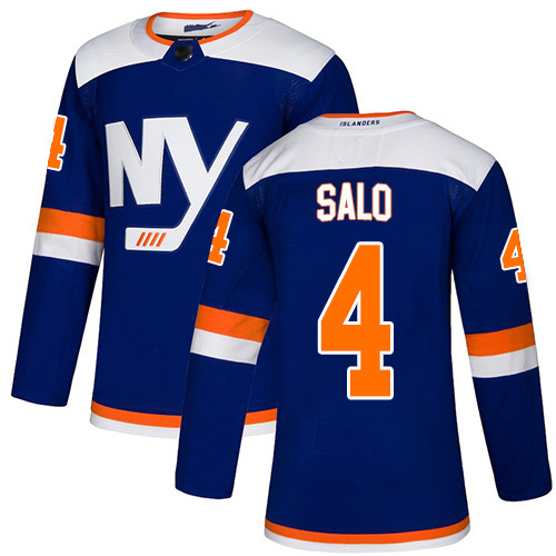 Adidas Youth Robin Salo Authentic Blue Alternate Jersey: NHL #4 New York Islanders