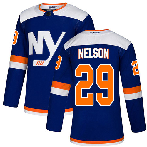 Adidas Youth Brock Nelson Authentic Blue Alternate Jersey: NHL #29 New York Islanders