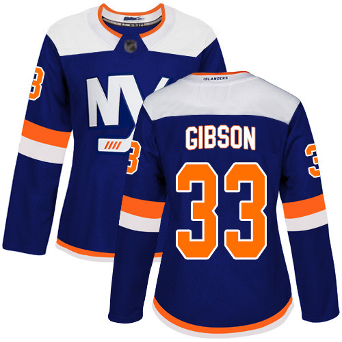 Women's Christopher Gibson Premier Blue Alternate Jersey: Hockey #33 New York Islanders