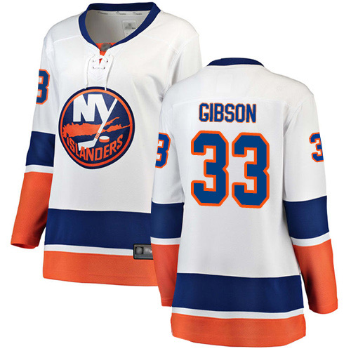 Fanatics Branded Women's Christopher Gibson Breakaway White Away Jersey: Hockey #33 New York Islanders