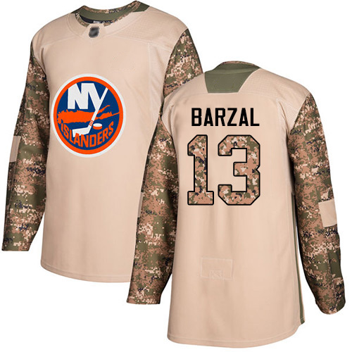 Adidas Men's Mathew Barzal Authentic Camo Jersey: NHL #13 New York Islanders Veterans Day Practice