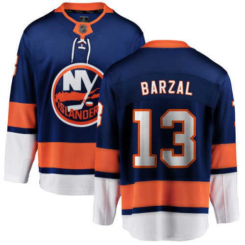 Fanatics Branded Youth Mathew Barzal Breakaway Royal Blue Home Jersey: NHL #13 New York Islanders