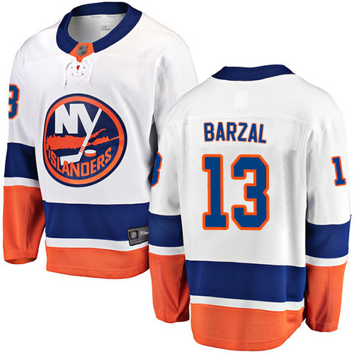 Fanatics Branded Youth Mathew Barzal Breakaway White Away Jersey: NHL #13 New York Islanders