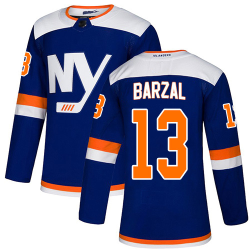 Adidas Youth Mathew Barzal Authentic Blue Alternate Jersey: NHL #13 New York Islanders