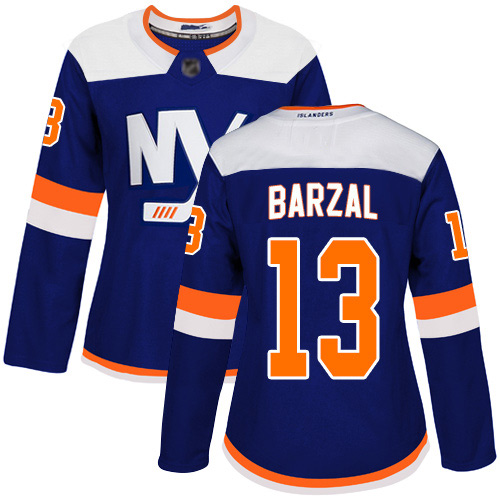 Adidas Women's Mathew Barzal Premier Blue Alternate Jersey: NHL #13 New York Islanders