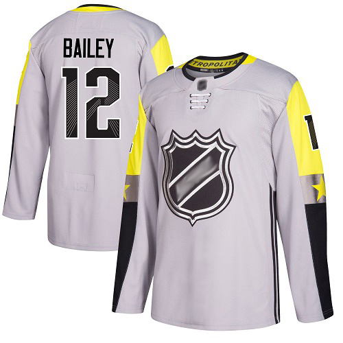 Men's Josh Bailey Authentic Gray Jersey: Hockey #12 New York Islanders 2018 All-Star Metro Division