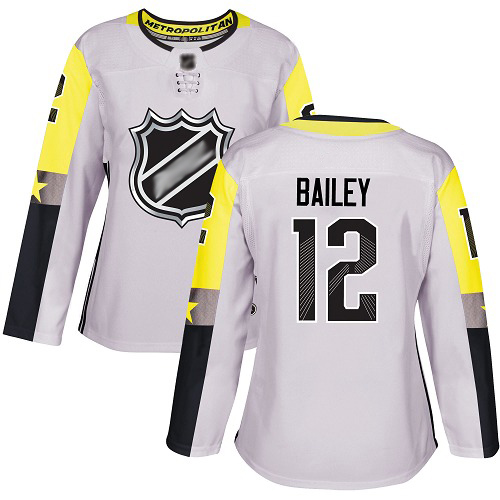 Women's Josh Bailey Authentic Gray Jersey: Hockey #12 New York Islanders 2018 All-Star Metro Division