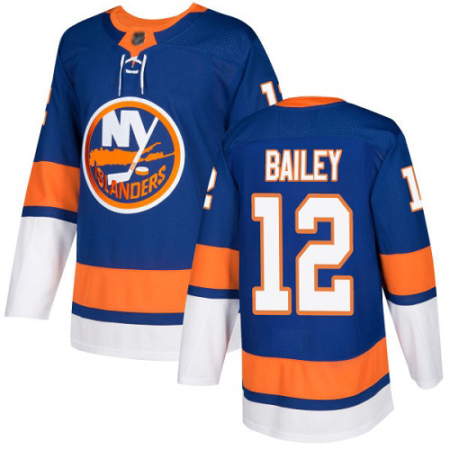Men's Josh Bailey Authentic Royal Blue Home Jersey: Hockey #12 New York Islanders