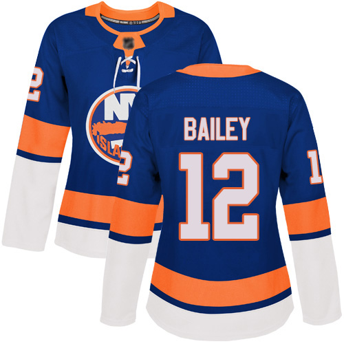 Women's Josh Bailey Authentic Royal Blue Home Jersey: Hockey #12 New York Islanders