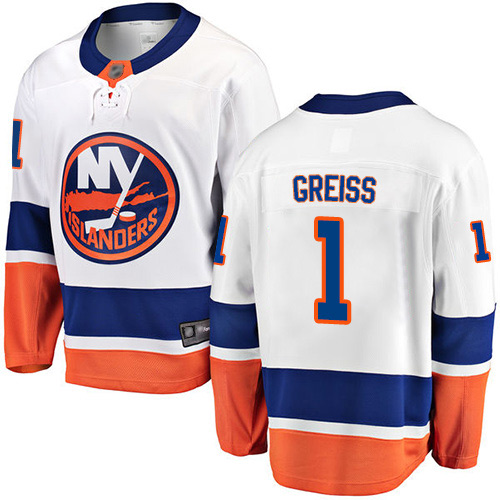 Fanatics Branded Men's Thomas Greiss Breakaway White Away Jersey: NHL #1 New York Islanders