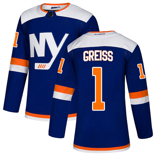 Adidas Youth Thomas Greiss Premier Blue Alternate Jersey: NHL #1 New York Islanders